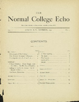 The Echo Volume 1 Number 4