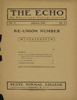 The Echo Volume 11 Number 5