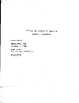 Giarratano, Joseph M, VA Clemency granted