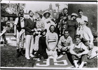 Page 83: Members of the Class of '35 clowning around for the camera.
