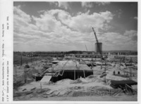 Construction of the University at Albany's academic buildings on the uptown campus, 1964 September 10