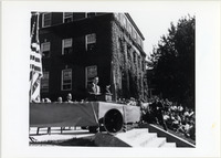 Page 99 B-Top Right: Governor Thomas E. Dewey speaking from the steps of Page Hall.