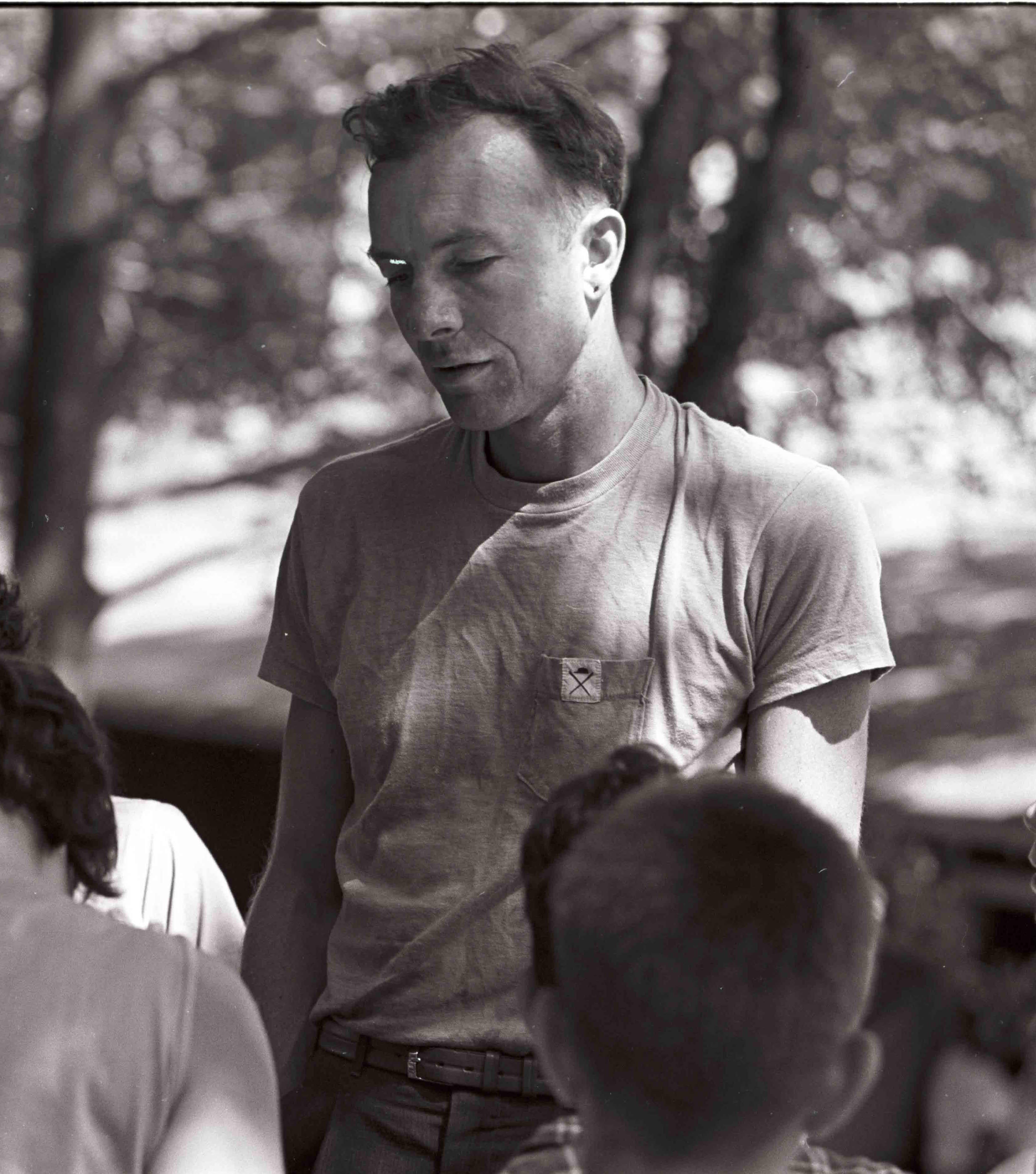 Pete Seeger at Camp Woodland, Phoenicia, New Yok, circa 1940s