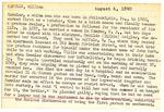 William Kemmler Index Card 1