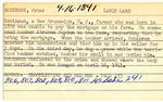 Peter Robinson Index Card