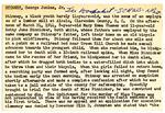 George Stinney Index Card 1